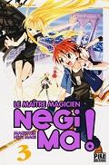 Negima ! Tome 3 de Ken AKAMATSU Pika Edition année 2009 ISBN 9782845995628 livre de poche broché dimensions 12,3x18,2 cm, 192 pages