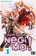 Negima ! Tome 1 de Ken AKAMATSU Pika Edition année 2009 ISBN 9782845995031 livre de poche broché dimensions 12,3x18,2 cm, 192 pages